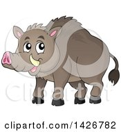 Clipart Of A Razorback Boar Royalty Free Vector Illustration
