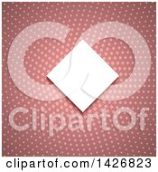 Clipart Of A White Diamond Shaped Invitation Frame Over A Pink Pattern Royalty Free Vector Illustration