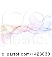 Clipart Of A Background Of Abstract Colorful Waves On White Royalty Free Vector Illustration