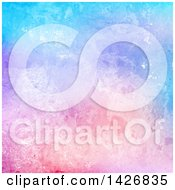 Clipart Of A Blue Purple And Pink Watercolor Texture Background Royalty Free Vector Illustration