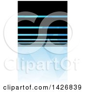 Clipart Of A Black And Blue Geometric Styled Wesite Background Or Business Card Design Royalty Free Vector Illustration by KJ Pargeter