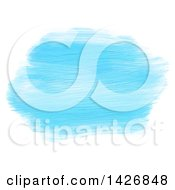 Clipart Of Streaks Of Blue Acrylic Paint On White Royalty Free Vector Illustration