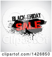 Clipart Of A Grungy Black Frdiday Sale Design Royalty Free Vector Illustration by KJ Pargeter
