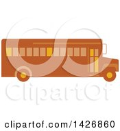 Clipart Of A Retro School Bus Royalty Free Vector Illustration by patrimonio