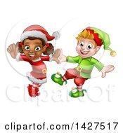 Happy Christmas Elves Dancing