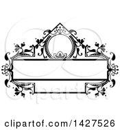 Black And White Ornate Vintage Floral Frame