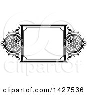 Black And White Ornate Vintage Floral Frame