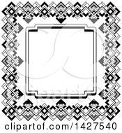 Black And White Ornate Vintage Art Deco Frame