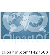 Poster, Art Print Of 3d Raised World Map Over Blue