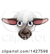 Clipart Of A Sheep Face Avatar Royalty Free Vector Illustration
