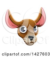 Clipart Of A Happy Kangaroo Face Avatar Royalty Free Vector Illustration