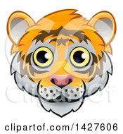 Clipart Of A Happy Tiger Face Avatar Royalty Free Vector Illustration by AtStockIllustration