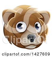Clipart Of A Happy Bear Face Avatar Royalty Free Vector Illustration