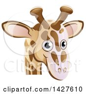 Clipart Of A Happy Giraffe Face Avatar Royalty Free Vector Illustration by AtStockIllustration
