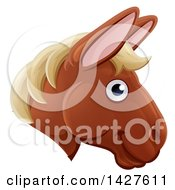 Clipart Of A Happy Horse Face Avatar Royalty Free Vector Illustration