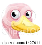 Clipart Of A Happy Ostrich Face Avatar Royalty Free Vector Illustration