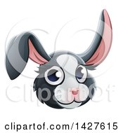 Clipart Of A Happy Dutch Rabbit Face Avatar Royalty Free Vector Illustration