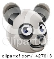Clipart Of A Happy Panda Face Avatar Royalty Free Vector Illustration by AtStockIllustration