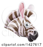 Clipart Of A Happy Zebra Face Avatar Royalty Free Vector Illustration