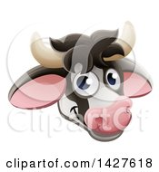 Clipart Of A Happy Dairy Cow Face Avatar Royalty Free Vector Illustration by AtStockIllustration