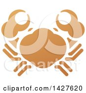 Clipart Of A Gradient Brown Orange Crab Royalty Free Vector Illustration