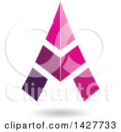 Clipart Of A Triangular Pink Letter A Logo Or Icon Design With A Shadow Royalty Free Vector Illustration