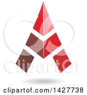 Clipart Of A Triangular Red Letter A Logo Or Icon Design With A Shadow Royalty Free Vector Illustration