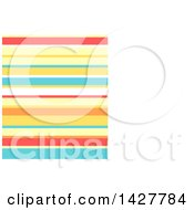 Clipart Of A Background Or Business Card Design Template With Stripes And White Text Space Royalty Free Vector Illustration