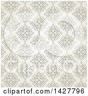 Clipart Of A Vintage Damask Background Royalty Free Vector Illustration