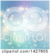 Clipart Of A Sunny Sky And Bokeh Flare Summer Background Royalty Free Vector Illustration