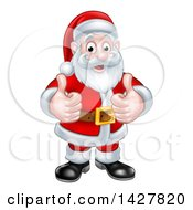 Christmas Santa Claus Giving Two Thumbs Up