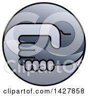 Poster, Art Print Of Round Gradient Handshake Logo Icon
