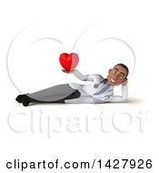 Clipart Of A 3d Young Black Male Doctor On A White Background Royalty Free Illustration by Julos