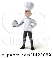 Clipart Of A 3d Young Black Male Chef On A White Background Royalty Free Illustration by Julos