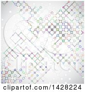 Clipart Of A Background Of Colorful Connected Network Lines Royalty Free Vector Illustration by KJ Pargeter