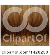 Clipart Of A Curved Wood Background Royalty Free Illustration