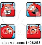 Goofy Devil Faces