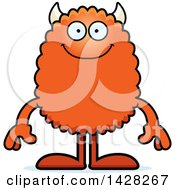 Clipart Of A Happy Monster Royalty Free Vector Illustration