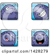 Clipart Of Winking Fly Faces Royalty Free Vector Illustration