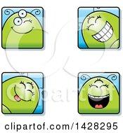 Poster, Art Print Of Four Winking Alien Faces