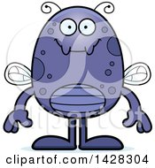Clipart Of A Cartoon Happy Fly Royalty Free Vector Illustration by Cory Thoman