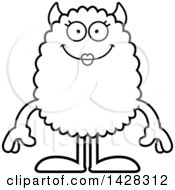 Clipart Of A Happy Female Monster Royalty Free Vector Illustration by Cory Thoman