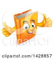Clipart Of A Happy Book Character Giving Thumbs Up Royalty Free Vector Illustration
