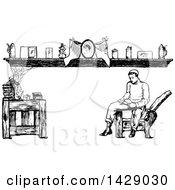 Vintage Black And White Sketched Man