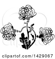 Clipart Of A Vintage Black And White Flower Design Royalty Free Vector Illustration by Prawny Vintage