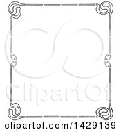 Clipart Of A Vintage Black And White Border Royalty Free Vector Illustration