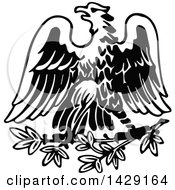 Clipart Of A Vintage Black And White Eagle Royalty Free Vector Illustration by Prawny Vintage
