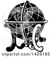 Poster, Art Print Of Vintage Black And White Globe
