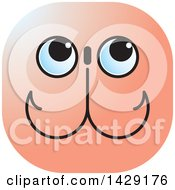 Clipart Of A Fishing Hooks Face Royalty Free Vector Illustration