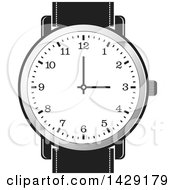 Clipart Of A Wrist Watch Royalty Free Vector Illustration